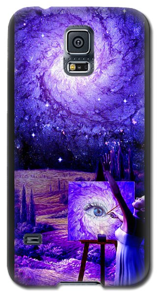 Galaxy S5 Case featuring the painting In The Eye Of The Beholder by Robby Donaghey