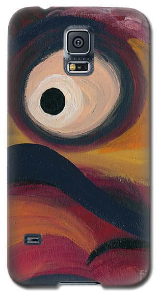 Galaxy S5 Case featuring the painting In The Eye Of The Hurricane by Ania M Milo