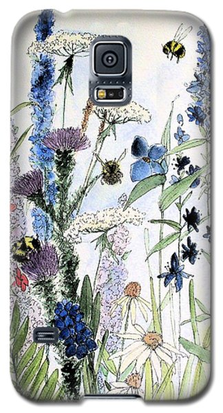Galaxy S5 Case featuring the painting In The Garden by Laurie Rohner