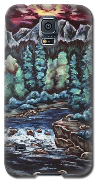 Galaxy S5 Case featuring the painting In The Land Of Dreams by Cheryl Pettigrew