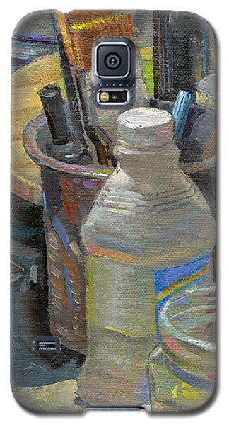Galaxy S5 Case featuring the painting In The Line Of Sight by John Norman Stewart