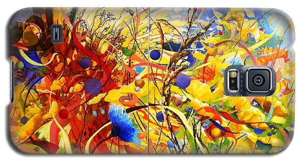 Galaxy S5 Case featuring the painting In The Meadow by Georg Douglas