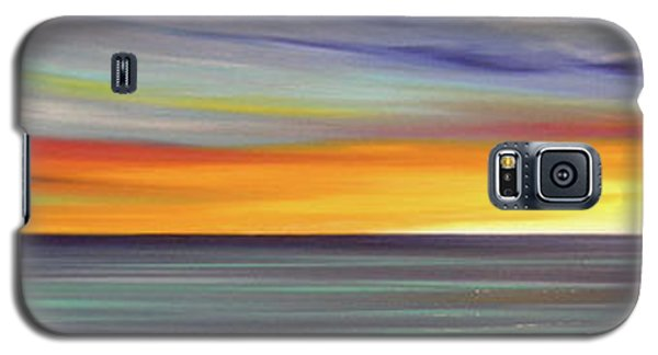 In The Moment Panoramic Sunset Galaxy S5 Case
