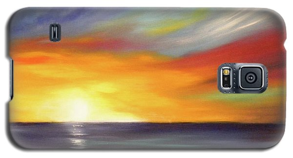 In The Moment Square Sunset Galaxy S5 Case