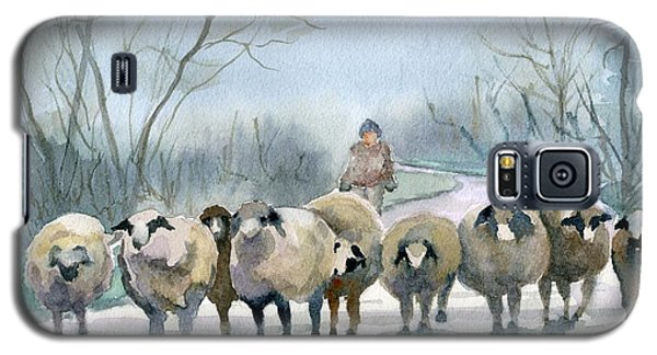 Sheep Galaxy S5 Case - In The Morning Mist by Marsha Elliott