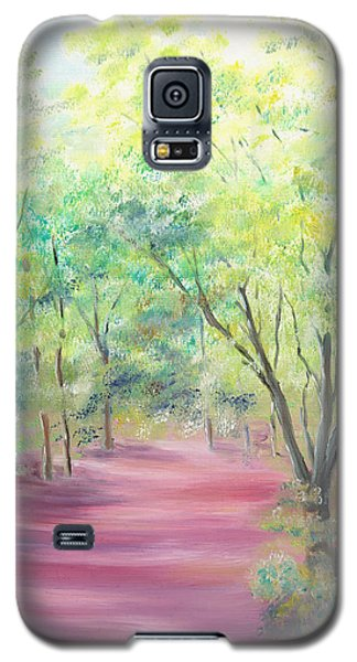 Galaxy S5 Case featuring the painting In The Park by Elizabeth Lock