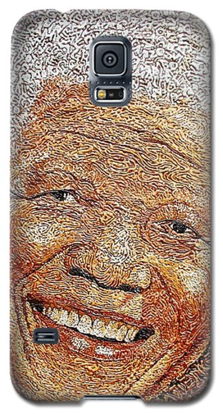 Nelson Mandela - In The Pyramid Of Our Minds Galaxy S5 Case by Bankole Abe