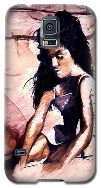 Galaxy S5 Case featuring the digital art In The Sand by Pennie  McCracken