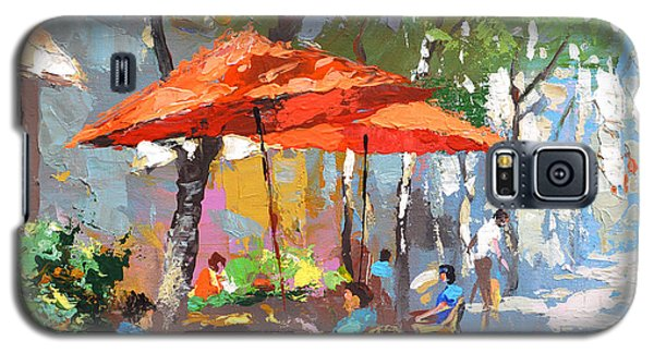 In The Shadow Of Cafe Galaxy S5 Case by Dmitry Spiros
