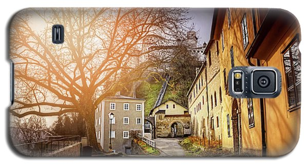 Galaxy S5 Case featuring the photograph In The Shadow Of Salzburg Castle  by Carol Japp