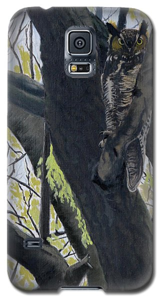 In The Shadow-ojibway Great Horn Owl Galaxy S5 Case