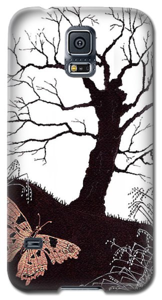 Galaxy S5 Case featuring the painting In The Winter Woods by Stanza Widen