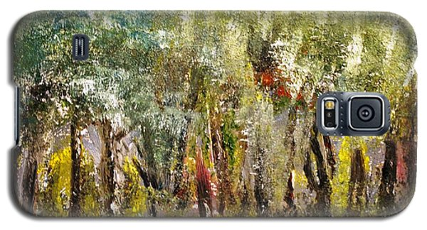 Galaxy S5 Case featuring the painting In The Woods by Evelina Popilian