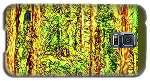 Galaxy S5 Case featuring the digital art In The Woods - Forest Trees Vashon Island Washington by Joel Bruce Wallach