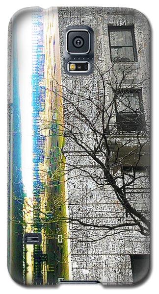 Galaxy S5 Case featuring the mixed media Inbetween  by Tony Rubino