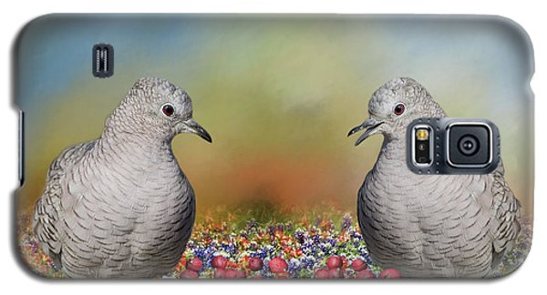 Galaxy S5 Case featuring the photograph Inca Doves by Bonnie Barry