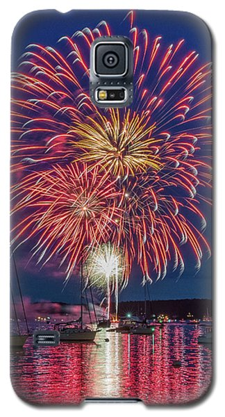 Independence Day Fireworks In Boothbay Harbor Galaxy S5 Case