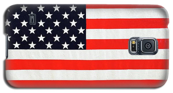 Independence Day Large Scale Oil On Canvas Original Landscape American Flag United States Flag Galaxy S5 Case