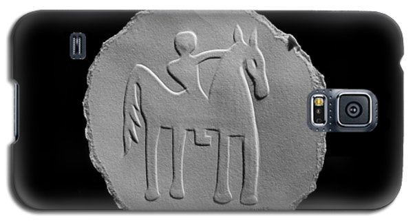 Indian Art - Horse Rider Galaxy S5 Case by Suhas Tavkar