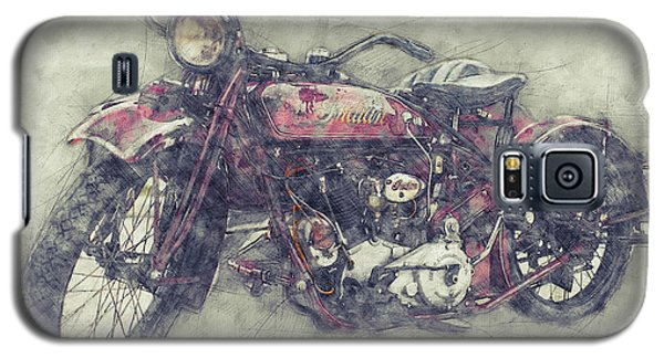Indian Chief 1 - 1922 - Vintage Motorcycle Poster - Automotive Art Galaxy S5 Case