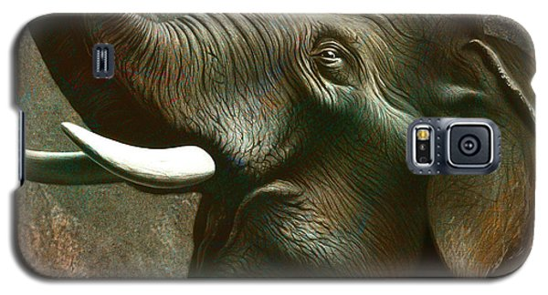 Trumpet Galaxy S5 Case - Indian Elephant 2 by Jerry LoFaro