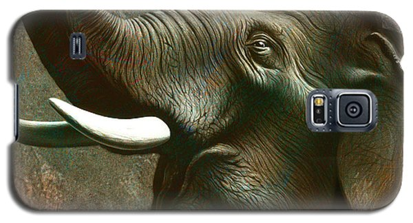 Trumpet Galaxy S5 Case - Indian Elephant 2 by Jerry LoFaro