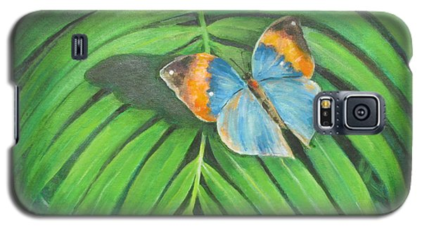 Galaxy S5 Case featuring the painting Indian Head Butterfly by Oz Freedgood