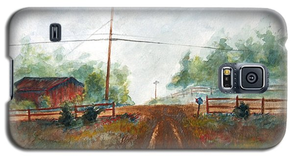 Galaxy S5 Case featuring the painting Indian Hills by Andrew Gillette