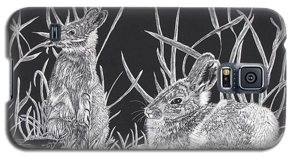 Indian Ink Rabbits Galaxy S5 Case by Kevin F Heuman