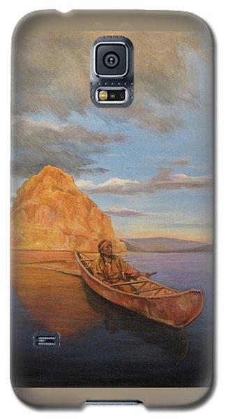 Indian On Lake Pyramid Galaxy S5 Case