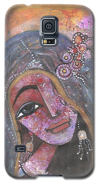 Indian Rajasthani Woman With Colorful Background  Galaxy S5 Case