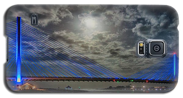 Indian River Bridge Moonlight Panorama Galaxy S5 Case