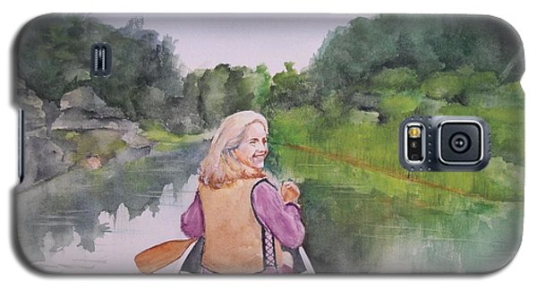 Galaxy S5 Case featuring the painting Indian River by Ellen Canfield