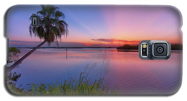 Indian River State Park Bursting Sunset Galaxy S5 Case by Justin Kelefas