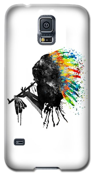 Indian Silhouette With Colorful Headdress Galaxy S5 Case