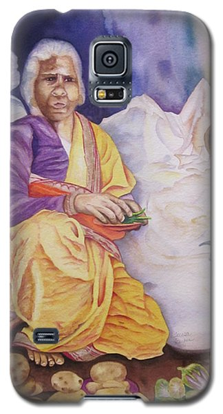 Indian Woman At Market IIi Galaxy S5 Case