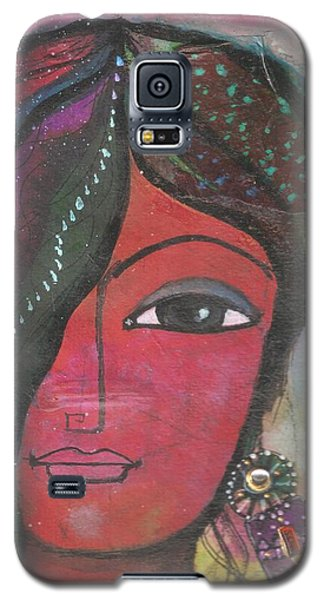 Indian Woman Rajasthani Colorful Galaxy S5 Case