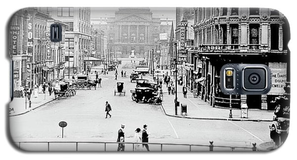Indianapolis, Indiana, Downtown Area, C. 1915, Vintage Photograp Galaxy S5 Case by A Gurmankin
