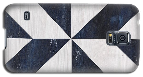 Galaxy S5 Case featuring the painting Indigo And Blue Quilt by Debbie DeWitt