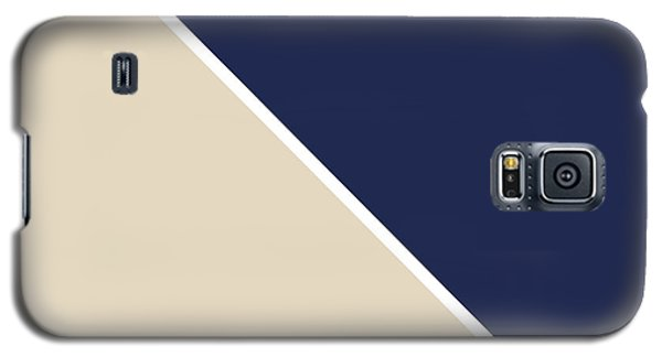 Garden Galaxy S5 Case - Indigo And Sand Geometric by Linda Woods