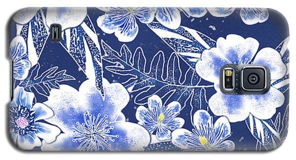 Indigo Batik Camellia Fern - 12 Galaxy S5 Case