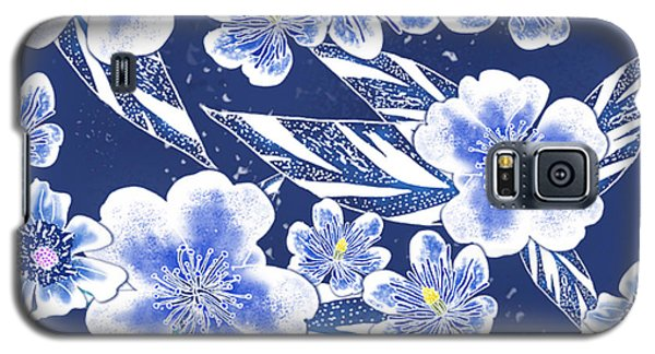 Indigo Batik Camellia Ginger - 12 Galaxy S5 Case