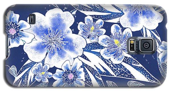 Indigo Batik Tile 2 - Ginger Leaves Galaxy S5 Case