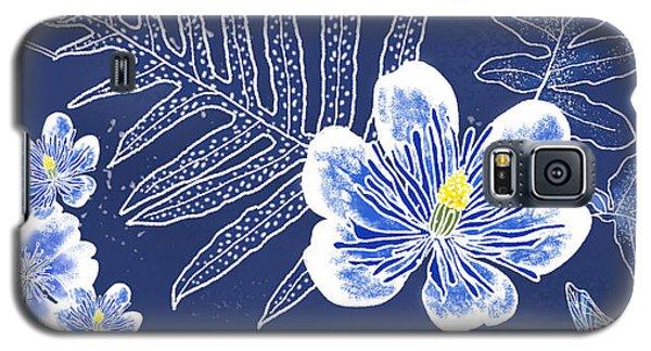Indigo Batik Tile 3 - Laua'e Galaxy S5 Case