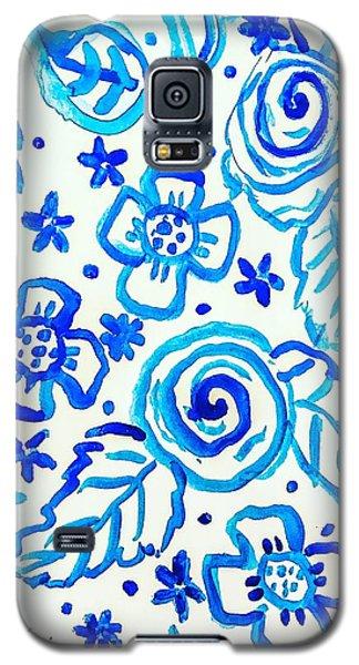 Indigo Blooms Galaxy S5 Case