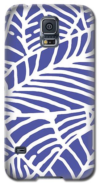 Indigo Leaves Batik Galaxy S5 Case