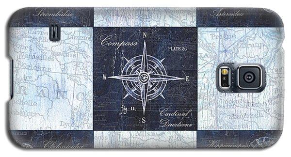 Indigo Nautical Collage Galaxy S5 Case by Debbie DeWitt