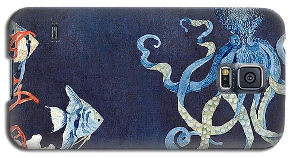 Indigo Ocean - Floating Octopus Galaxy S5 Case