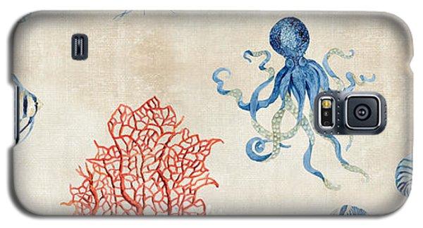 Indigo Ocean - Red Coral Octopus Half Drop Pattern Galaxy S5 Case