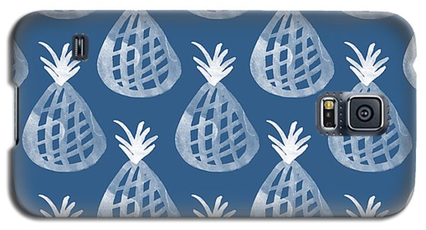Fruits Galaxy S5 Case - Indigo Pineapple Party by Linda Woods
